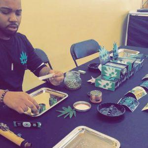 Jonathan Jones tandemling organizing his weed
