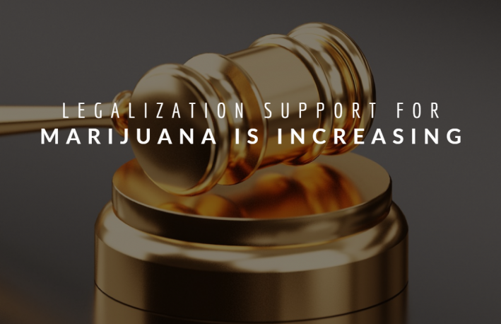 Legalization Support for Marijuana  is Increasing